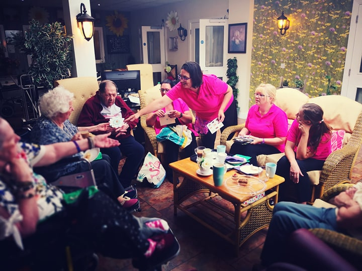 Celebrating Friendship Day at Spencer Grove Care Home Belper