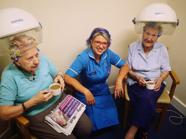 hair salon at Spencer Grove Care Home in belper