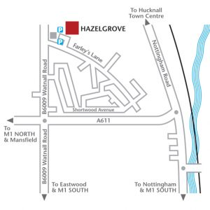 Hazelgrove-map